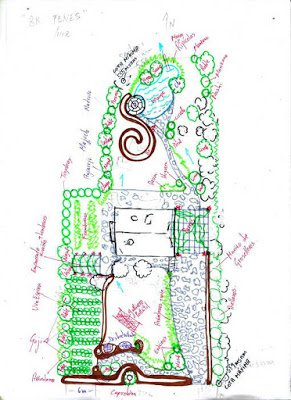 Diseño del bosque comestible del lambruxo
