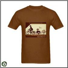 Camiseta hombre café Semillas Alforjas