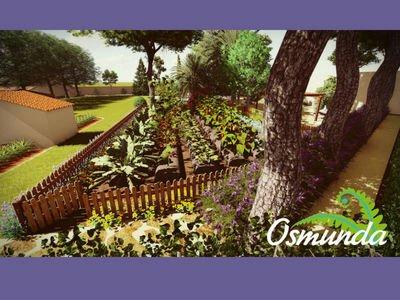 Render de jardín comestible de Osmunda